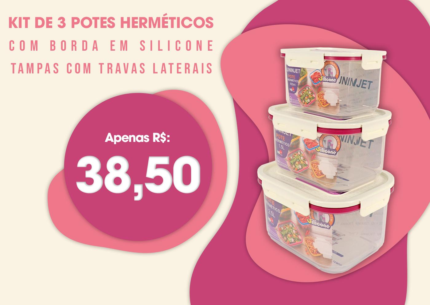 Kit de Potes Herméticos
