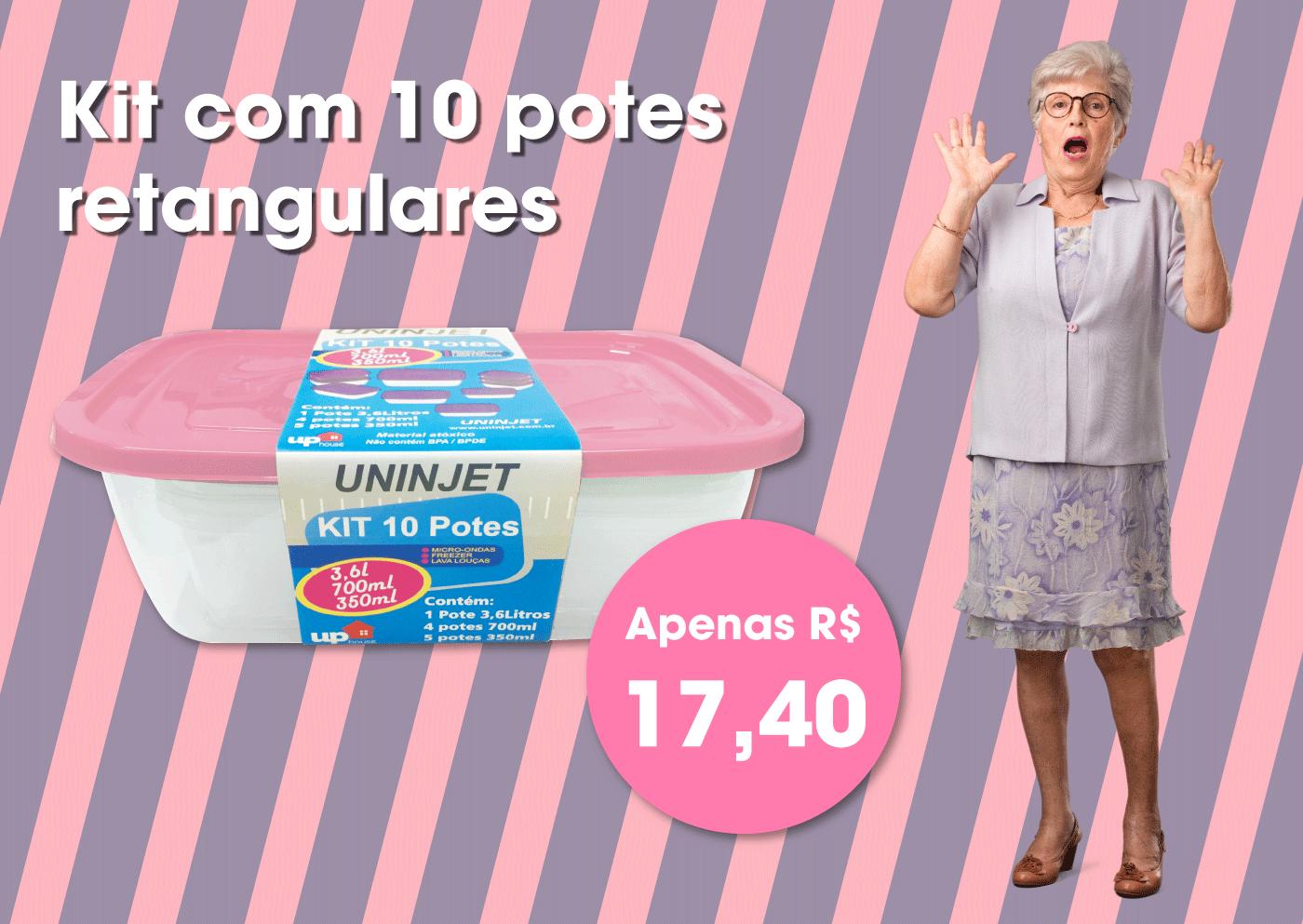 Kit de Potes 10 Peças