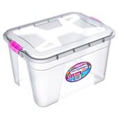 Caixa Organizadora Com Tampa e Trava 12 litros - Transparente