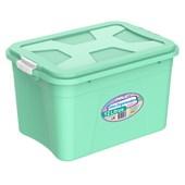 Caixa Organizadora Com Tampa e Trava 12 litros - Verde