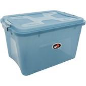 Caixa Organizadora Com Tampa e Trava 30 litros - Azul