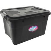 Caixa Organizadora Com Tampa e Trava 30 litros - Preto