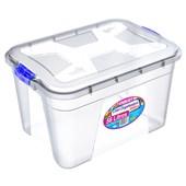 Caixa Organizadora Com Tampa e Trava 56 litros - Transparente