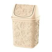 Cesto de Lixo Basculante Renda Floral 4,5 litros