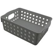 Cesto Organizador Multiuso 17x12,8x6 Cinza - Clink