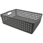 Cesto Organizador Multiuso 30x21x8,5 Cinza - Clink
