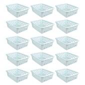 Kit Com 24 Cestos Multiuso Médio - Branco