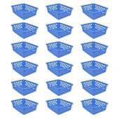 Kit Com 24 Cestos Multiuso Pequeno - Azul