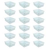 Kit Com 24 Cestos Multiuso Pequeno - Branco