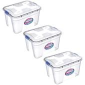 Kit Com 3 Caixas Organizadoras Transparente 30 Litros