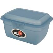 Pote de Plástico Click 400 ml - Azul